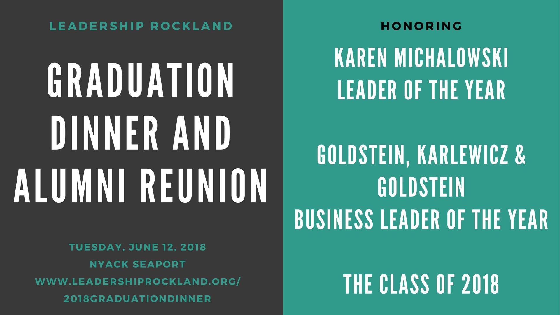 2018 Graduation Dinner and Alumni Reunion